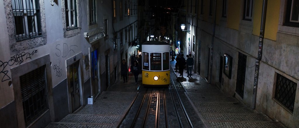 Night tram, Lisbon