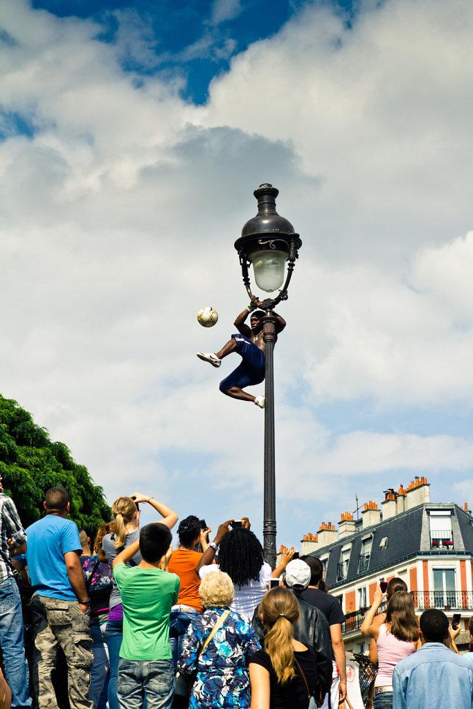 Le footballeur, Paris