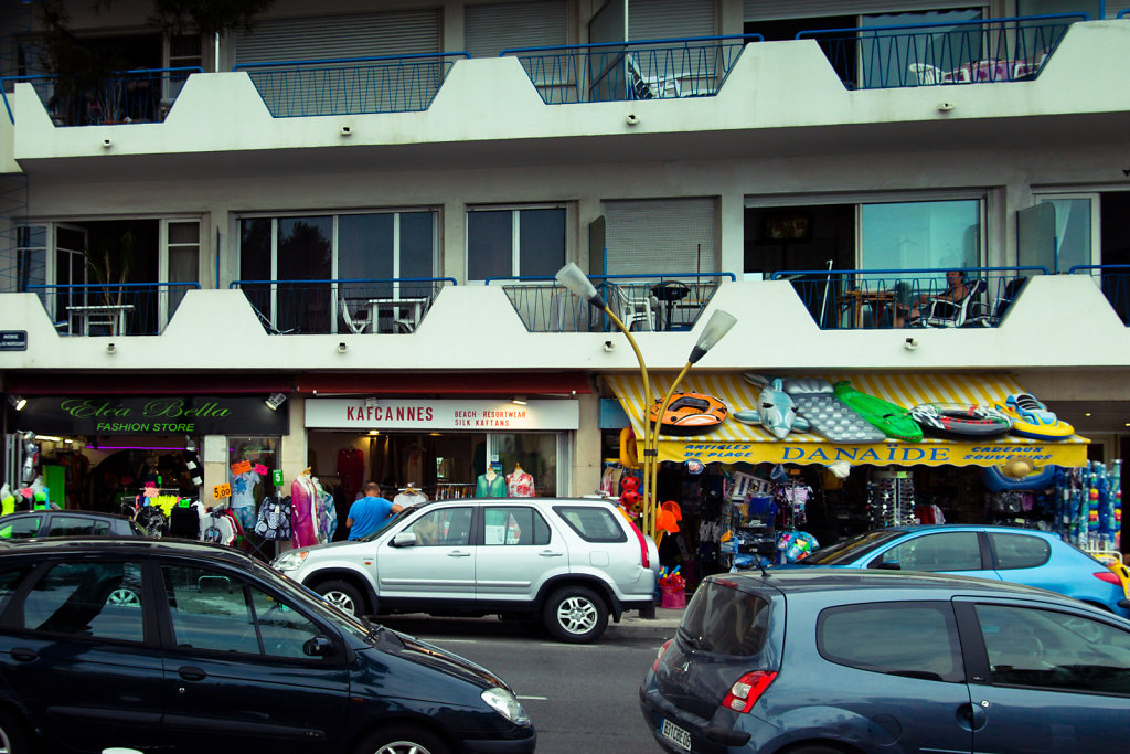 Sea side shops, Juan-les-Pins