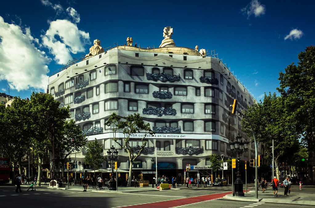 La Pedrera, trompe l'oeil, Barcelona