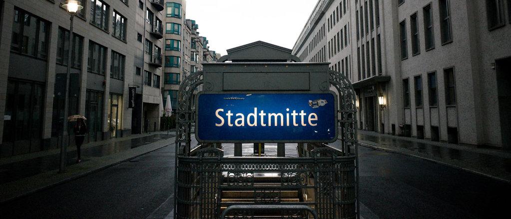 Stadtmitte subway station, Berlin