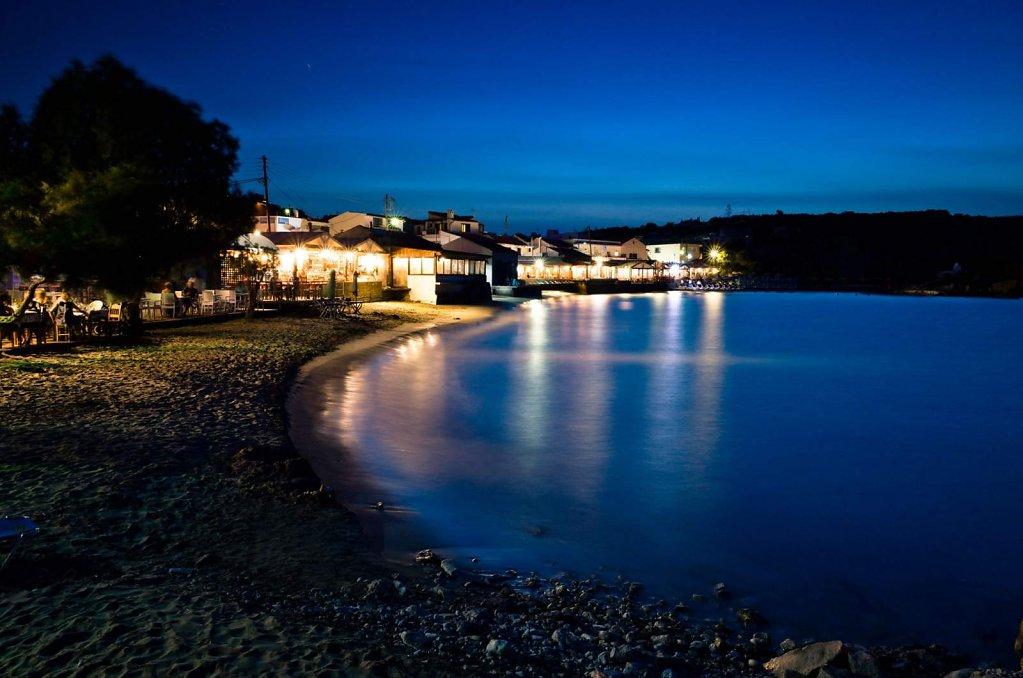 Sunset beach at night, II