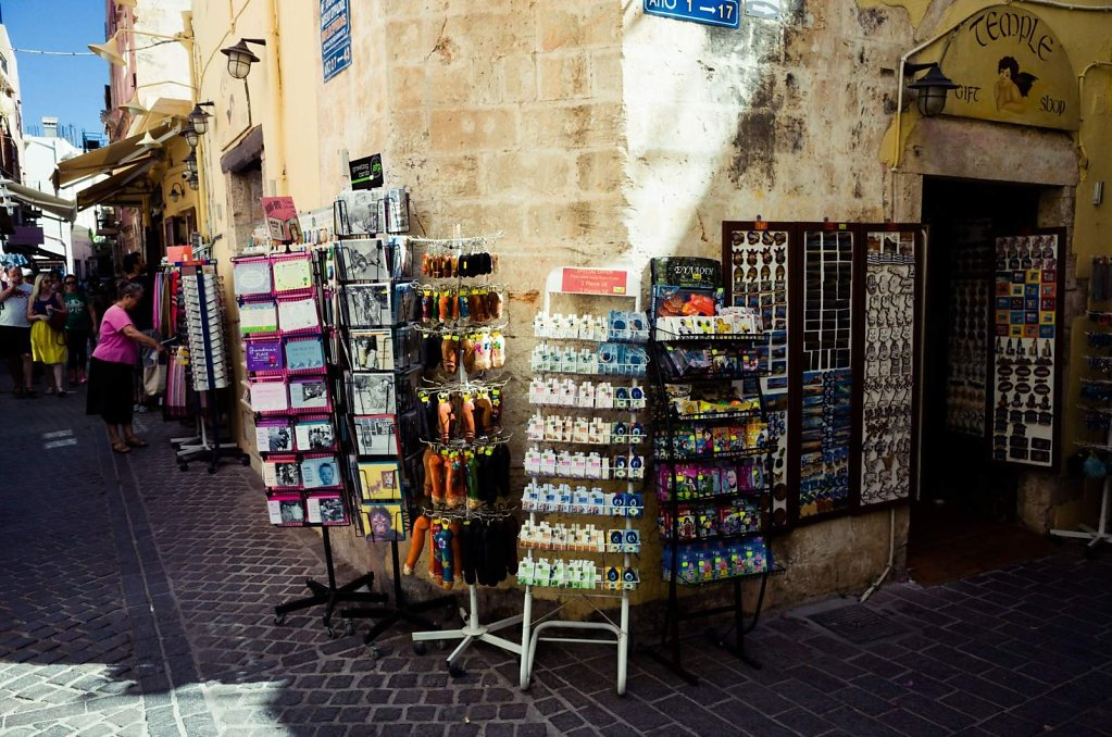 Souvenirs on display, Chania, Crete