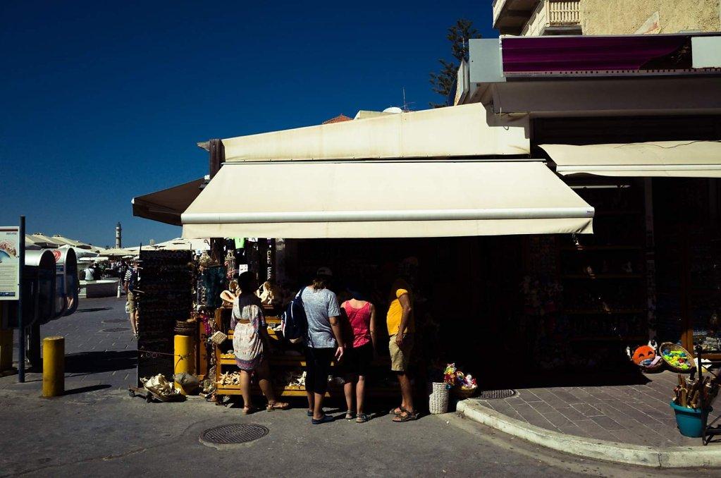 Customers, Chania old port, Crete