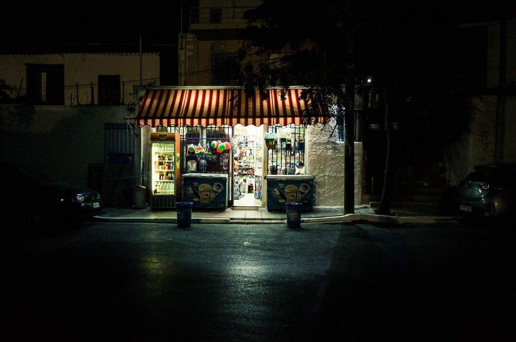 Late night shopping in Chania, Crete