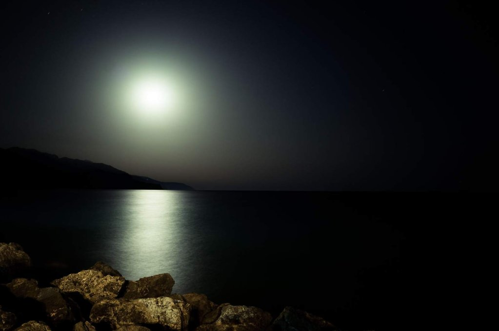 Moon shine in Paleochora, Crete