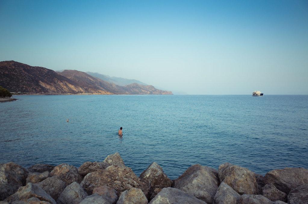 Walk the ocean, Paleochora, Crete