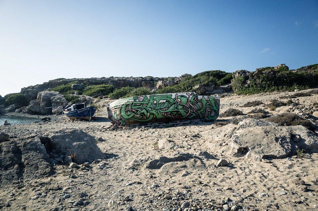 Beach street art
