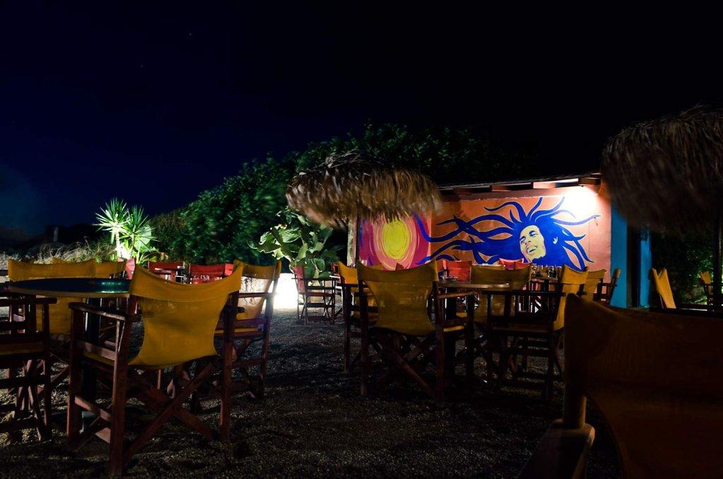 Bob Marley at the Orange Blue bar