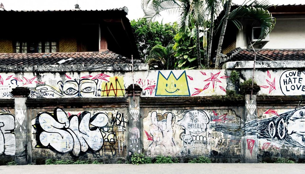 Grafitti wall, Bali