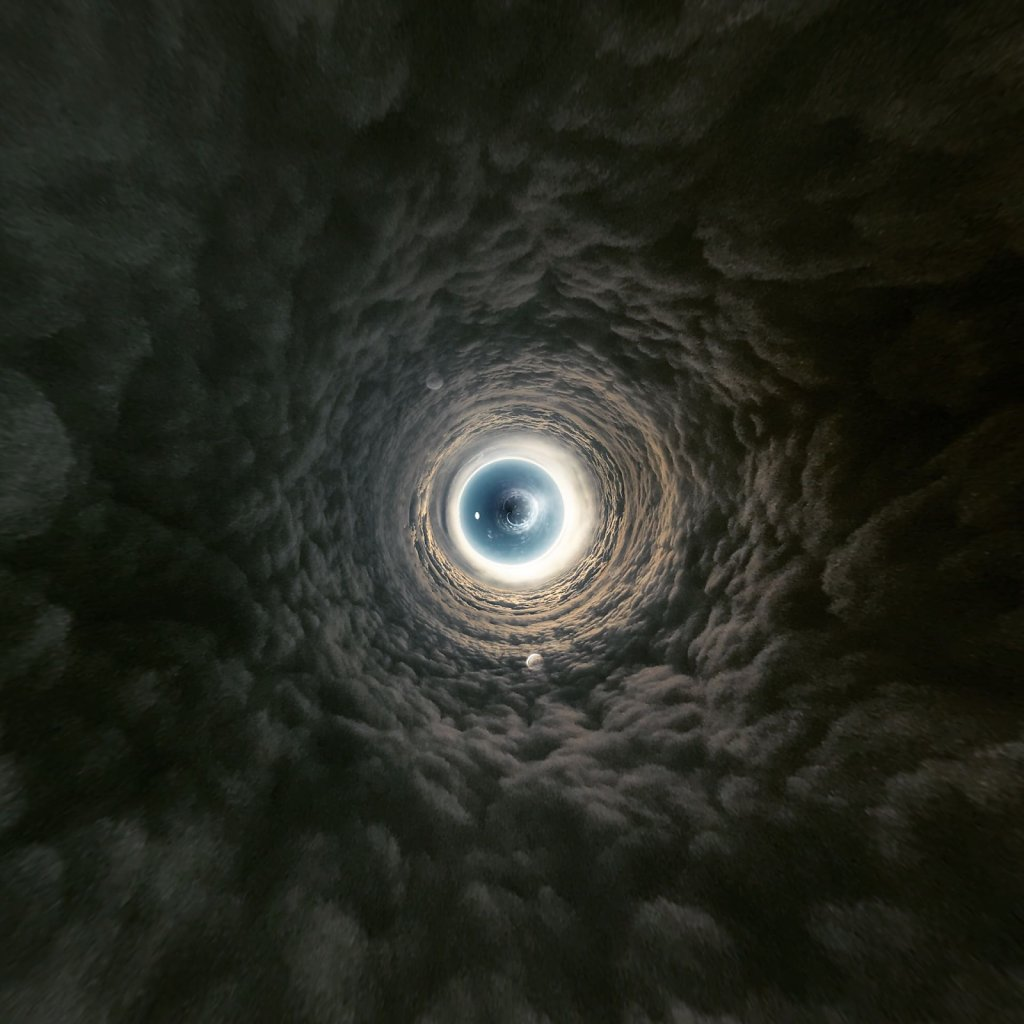 Tunnel of dark clouds