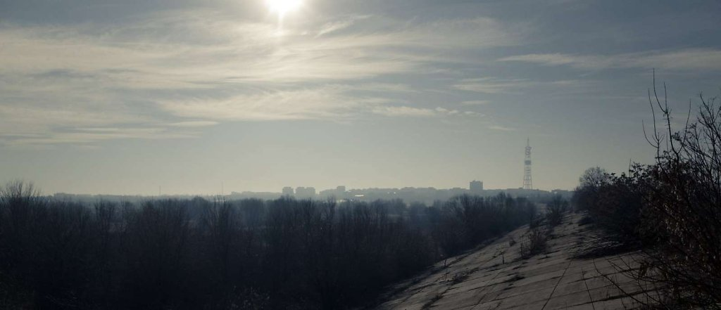 Hazy horizon, Bucharest