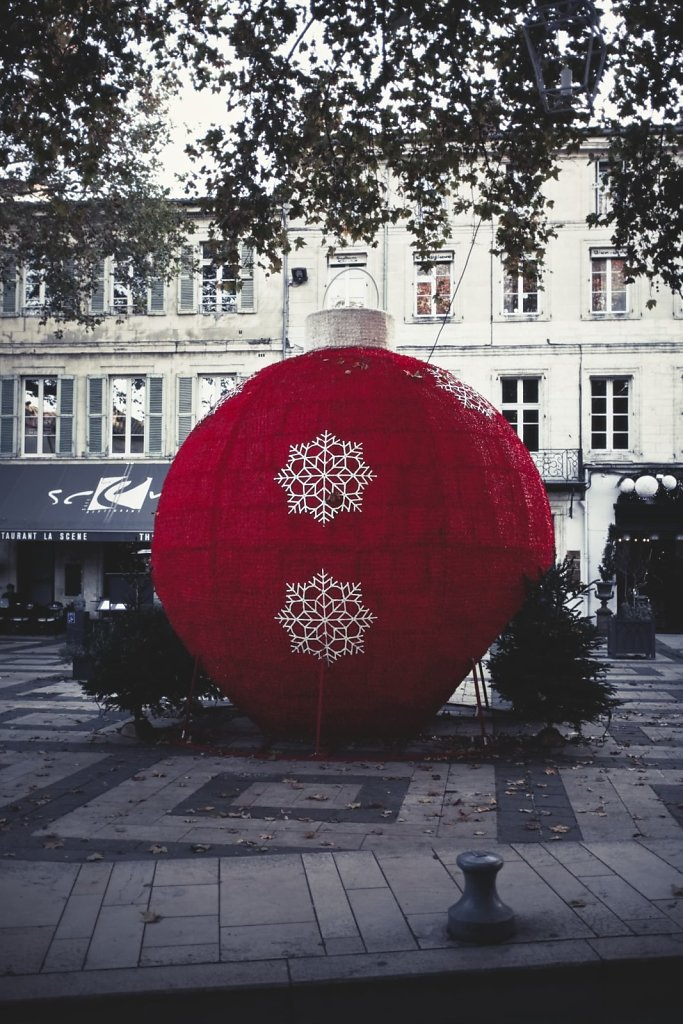 Big red Christmas ball