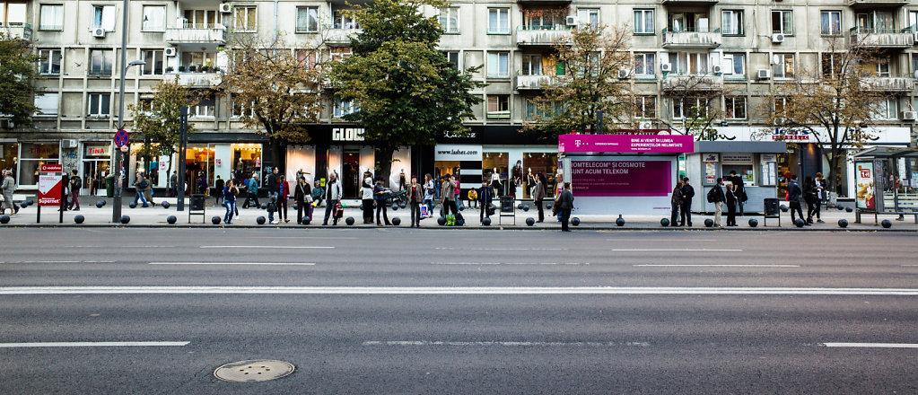 Bus station, Piața Romană, Bucharest