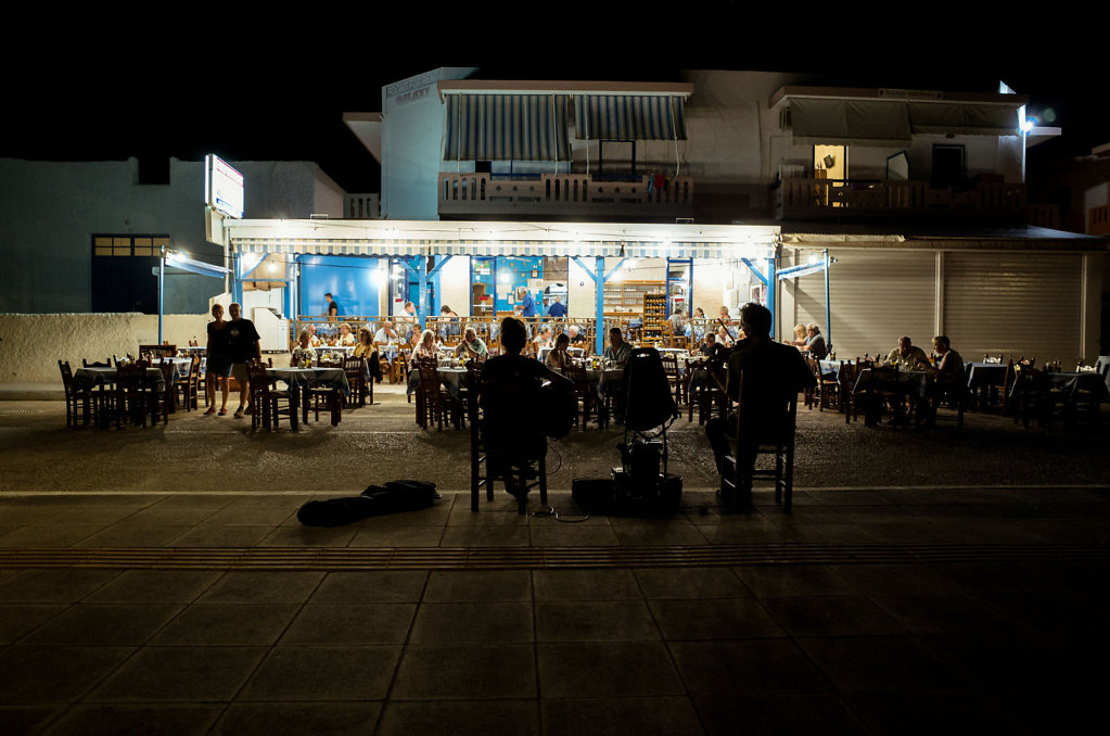 Taverna with performers, Paleochora, Crete