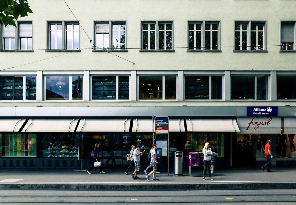 Tram station, Zurich