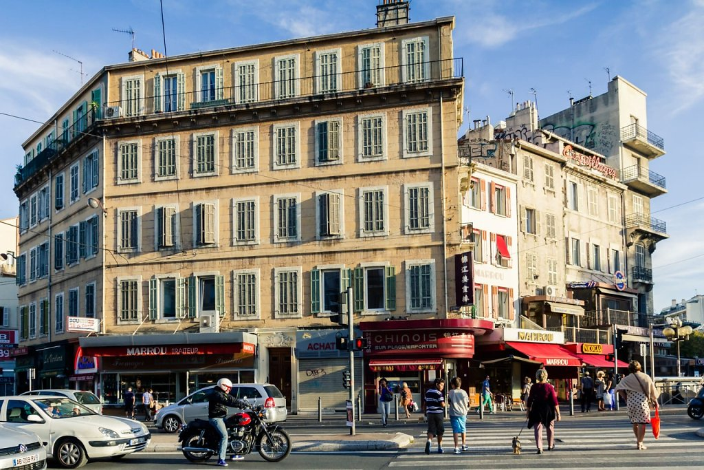 Street cross walk, Marseille