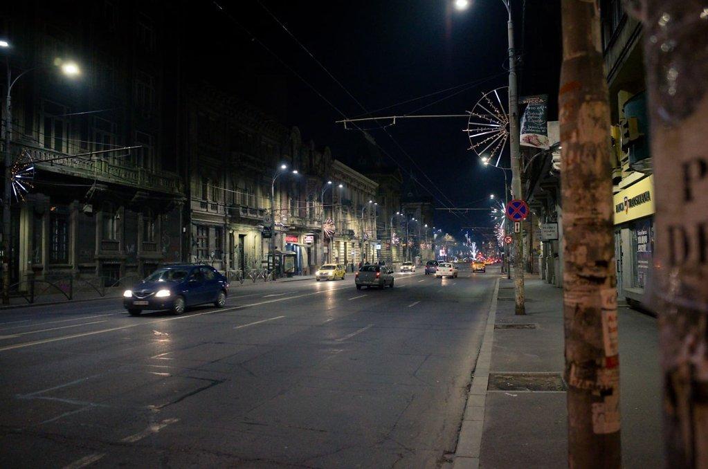 Night boulevard, Bucharest
