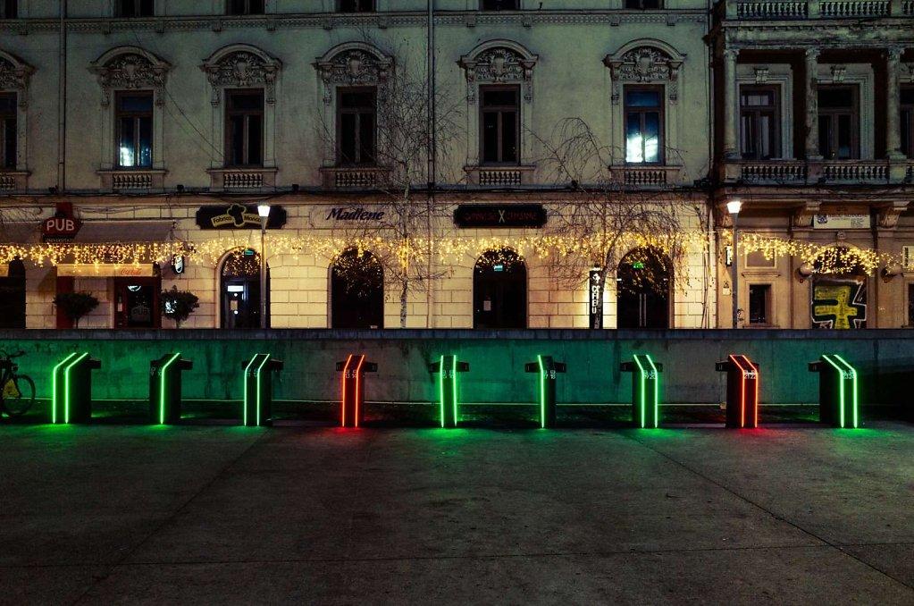 City bike stations, Bucharest